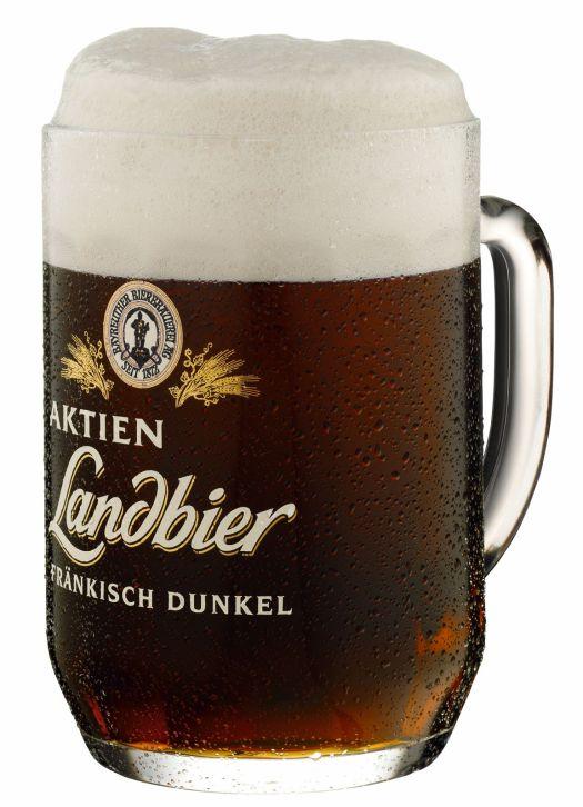 Bayreuther Aktien Brauerei, Fränkisch Dunkel, Landbier, Ausschank Mon Ami