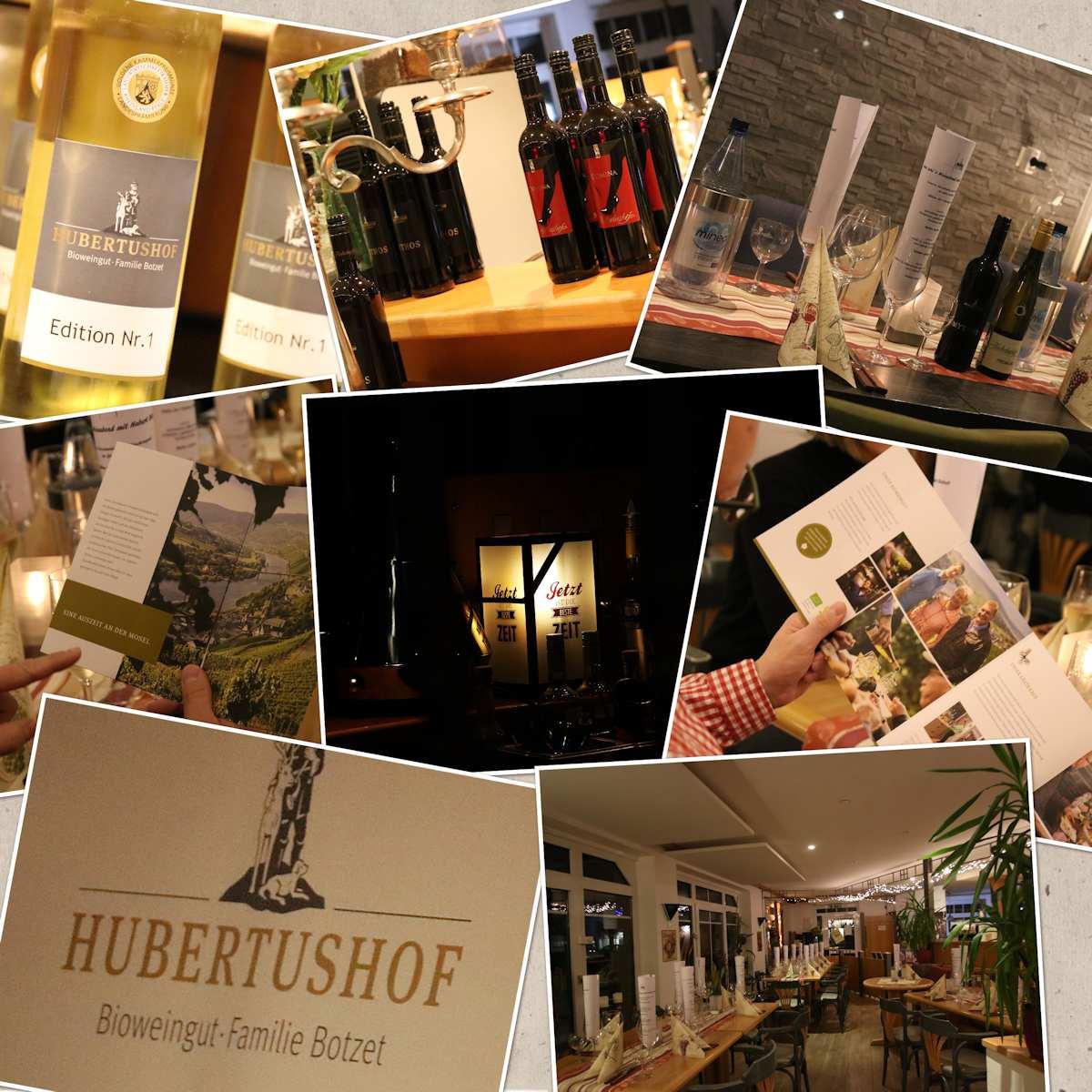Weinabend, Weinprobe, Bioweingut Hubertushof, Botzet, Staatsehrenpreis