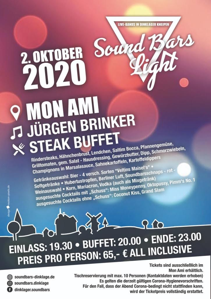 soundbars, soundbarslight, goldeneroktober, goldennight, steakbuffet, juergenbrinker, livemusik, livemusic, musiclive, allinclusive